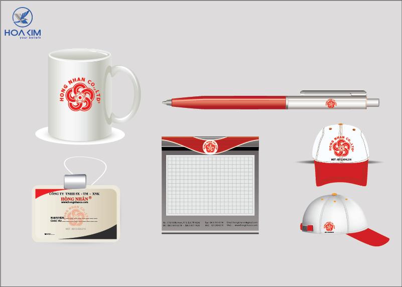 thiết kế nhân diện thương hiệu cơ khí hồng nhân