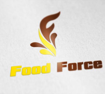thiết kế logo công ty food force ở nhật bản